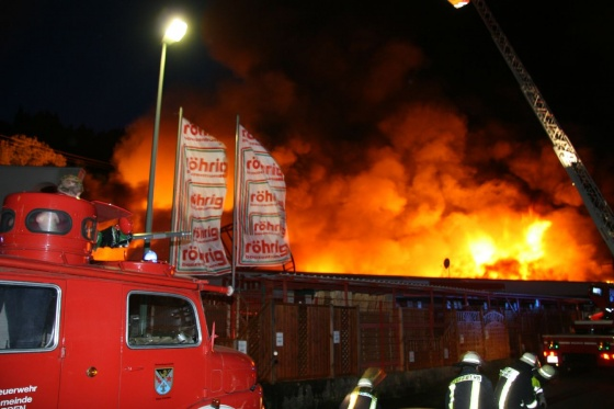 Röhrig Treis großbrand des röhrig baumarktes freiwillige feuerwehr müden mosel